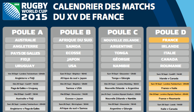 Pdf coupe du monde rugby 2015 calendrier pdf mondial 2015 - Classement rugby coupe monde 2015 ...